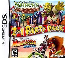 DreamWorks 2in1 Party Shrek's Carnival Craze Madagascar Kartz Nint DS COMPLETE!