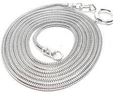925 Sterling Silver snake chain 1.2mm round 14in - 50in Handmade UK Hallmarked