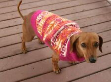 small dog SWEATER NWT pink orange World Market NEW knit S Easter spring pet cute