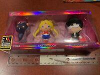 2017 SDCC Convention Sailor Moon Figural Keyring 3 Pack LUNA TUXEDO MASK NEW