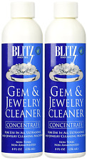 2 Pack BLITZ Concentrated Jewelry Cleaning Solution For Ultrasonic Cleaners 8