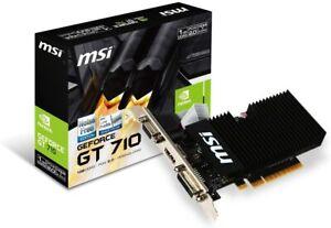 MSI GeForce GT 710 1GD3H LPV1 Graphics Card GDRR3  Fanless Heatsink Low Profile