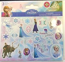 46 Disney Frozen Stickers ( 2 Sheets) Party Favor Teacher Supply Olaf Anna Elsa