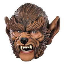 Werewolf Chinstrap Vinyl Adult Costume Mask Disguise 10392