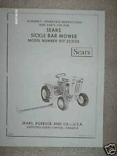 917.253120- Sears Tractor-Sickle Bar Mower Owners Manual on CD