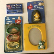 Vintage Care Bears Lot 80s Prize Awards Toothbrush Frame Attachables