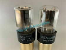 KEN-RAD - GE 6SN7GTA RARE BLACK PLATES VACUUM TUBES PLATINUM MATCHED on AT1000