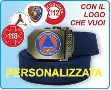 Nuova Cintura PERSONALIZZATA Volontariato, Sanità, Militare, Soccorritore, 118