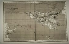 OLD ANTIQUE MAP SICILY ITALY c1807 by  MACPHERSON / COOPER PROVINCIA ROMANORUM