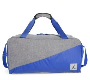 Nike Air Jordan Jumpman Duffel Sports Gym Bag Hyper Royal/Gray 8A0083-U5H