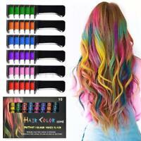 10PCS Hair Color Crayons Crayons Disposable Hair Dye Comb Temporary Hair Combs