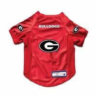 NEW GEORGIA BULLDOGS DOG CAT DELUXE STRETCH JERSEY