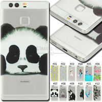 For Huawei P9 Protective Silicone Gel TPU Soft Case Skin Rubber Shockproof Cover