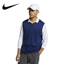New Nike Golf Dri-Fit Sweater Vest Blue Polyester AV5225-492 Men's Size XL