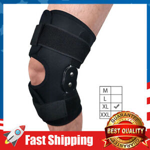 Hinged Knee Brace Adjustable Knee Support for Men & Women Sports in Gym-XL
