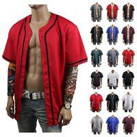 Men's Baseball Jersey Raglan T- Shirt Mesh Sports Fashion Hipster Casual Jacket