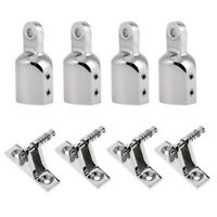 8X 316 Stainless Steel Eye End Cap Tube 90 Degree Boat Deck Hinge Mount