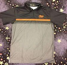 Motiv Momentum Polo - Black/Gray/Orange Size Small Bowling Shirt