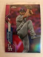 2020 Topps Chrome Pink Refractor Clayton Kershaw #122 Los Angeles Dodgers SP