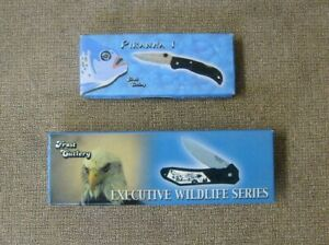 Frost Cutlery Folding pocket knife 2 total Piranha and Executive Wildlife Series