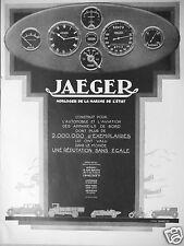 PUBLICITÉ 1927 JAEGER HORLOGER DE LA MARINE DE L'ÉTAT - ADVERTISING