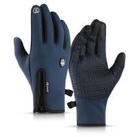 1 Pair Winter Full Finger Bike Cycling Gloves Thermal Windproof Waterproof Glove