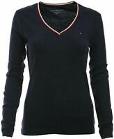 Tommy Hilfiger Damen Langarm T-Shirt, Long Sleeve Cotton T-Shirt, Alle Großen
