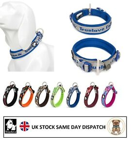 Truelove Dog Collar Heavy Duty Adjustable Dog Puppy Collars Reflective Padded