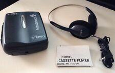 Lot of 6 Coby Cx-26 Slimline Stereo Cassette Player w Original Stereo Headphones