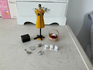 Dolls House Bundle/Lot. Kitchen, Sewing Room, Books. Mannequin, Combined Postage