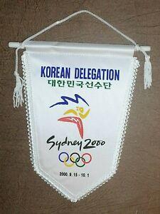 SYDNEY 2000 OLYMPIC GAMES BOX BOXING KOREA TEAM OFFICIAL Pennant Streamer Flag