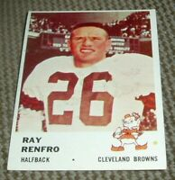 1961 Fleer Football Card # 13 Ray Renfro-clevland Browns