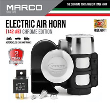 Air Horn Electric Motorcycle Loud Dual Tone Truck Marco Chrome Edition Compact