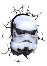 Star Wars Storm Trooper Mask 3D Light Nightlight Kids Bedroom Wall Illumination