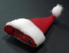 Weihnachtsmütze Nikolausmütze mit Haarclip X-MAS Santa Claus Mütze Haarspange