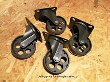 Industrial furniture swivel metal castors casters wheels 7,6 cm graphite circle