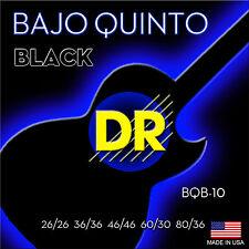DR Strings BQB-10 Black Bajo Quinto guitar Strings Black