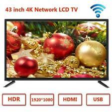 15'' 17'' 19'' 22'' 32'' 43'' 2K 4K HD LCD TV Flat Screen Television HDMI USB