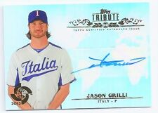 JASON GRILLI  - CERTIFIED SIGNED/AUTO/AUTOGRAPH ON TOPPS TRIBUTE BASEBALL CARD