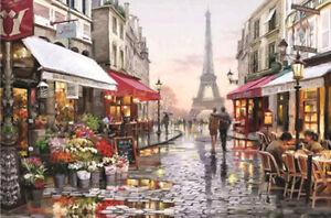 1000 Pieces Adult Puzzle Set Paris Street Eiffel Tower Jigsaw Difficult Puzzle