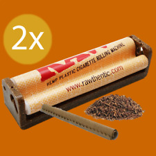 2x RAW 79mm Easy Manual Hemp Plastic Cigarette Roller Maker Rolling Machine
