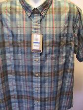 NEW G.H BASS & CO. Short Sleeve Blue Shirt Size XL NWT