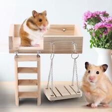 3pcs set Wooden Pet Rat Hamster Toy Ladder Swing Perches Platform Squirrel Toy