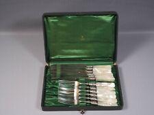 1847 Rogers Bros Sterling Silver Mounts Mother Pearl Flatware Forks Knives