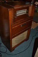 Vtg Philco Tube Radio Phonograph wood Console Model 48-1264