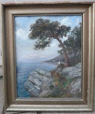 Alfred Zoff ? Italien Riviera Nervi altes antik Ölgemälde Ölbild Bild Original