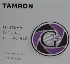 Tamron 18-400mm F/ 3.5-6.3 Di II VC HLD für Nikon - 12 Monate Gewährleistung