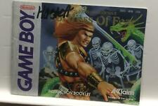 Fortress of Fear Nintendo Game Boy Instruction Manual Book Only