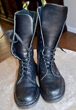 Doc Martin Women's Size 6 Airwalk Black Tall Leather Lace- Up Boots