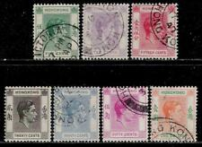 British Leasing Territory HONG KONG 1938 - 1946 Old Stamps - King George VI